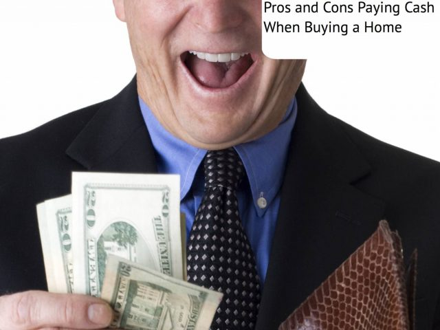 paying cash when buying home