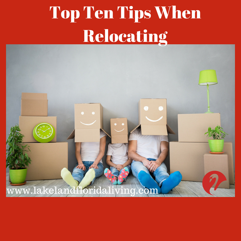 tips when relocate