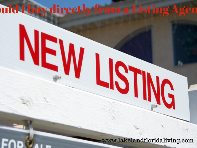 Should I use the listing agent to buy a home
